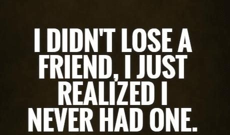 lose fake friends