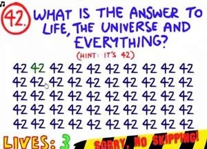 The Impossible Quiz Answers 42