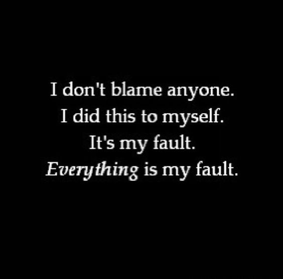 i hate myself because