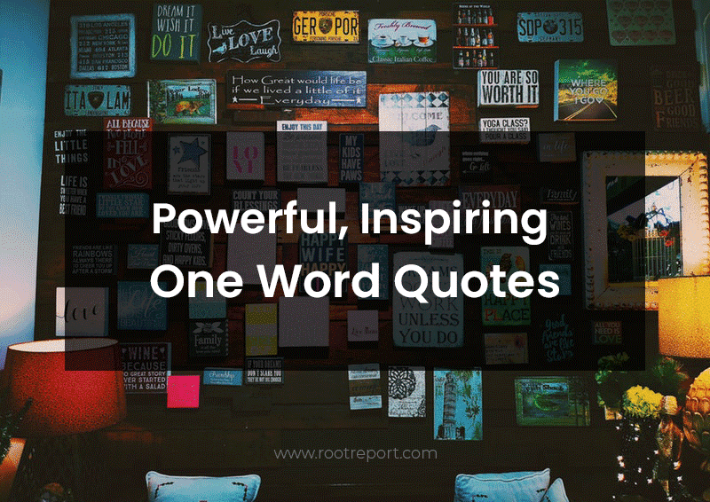 inspiring powerful one word quotes